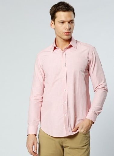 Cotton Bar Uzun Kollu Gömlek Somon